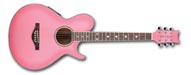 Daisy Rock Wildwood Artist Acoustic/Electric Guitar: Pink Burst