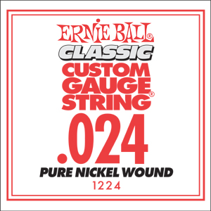 Ernie Ball Guitar Strings: Classic Pure Nickel Six-Pack -24 1224