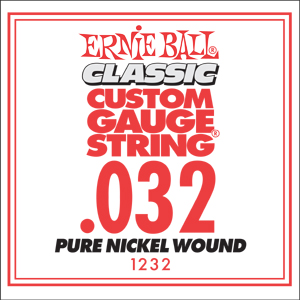 Ernie Ball Guitar Strings: Classic Pure Nickel Six-Pack -32 1232