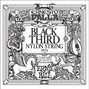 Ernie Ball Black 3rd Nylon Classical 6 pack 1513