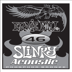 Ernie Ball Guitar Strings: .046 Slinky Acoustic Phosphor Bronze Six-Pack -1846