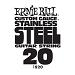Ernie Ball Guitar Strings: .020 Stainless Steel 6 pack 1920
