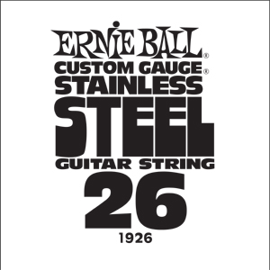 Ernie Ball Guitar Strings: .026 Stainless Steel 6 pack 1926
