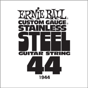 Ernie Ball Guitar Strings: .044 Stainless Steel 6 pack 1944
