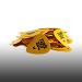 Ernie Ball Medium Yellow Picks Box of 144 Cellulose Acetate Nitrate 9117