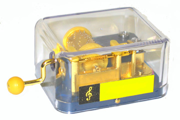 Hand Cranked Music Box: Music Of The Night HURDY GURDY
