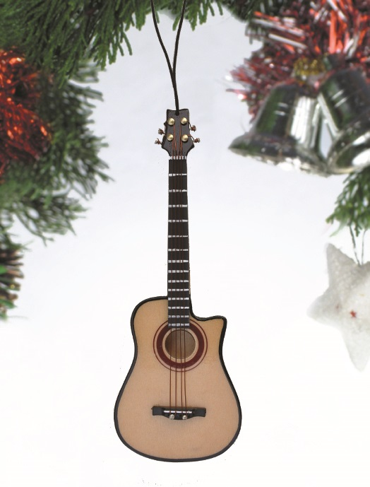 Bass Guitar w/Cutaway Ornament