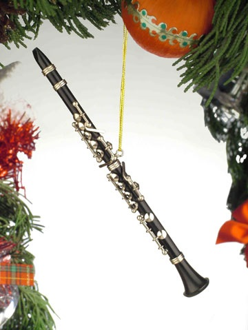Black Clarinet Ornament