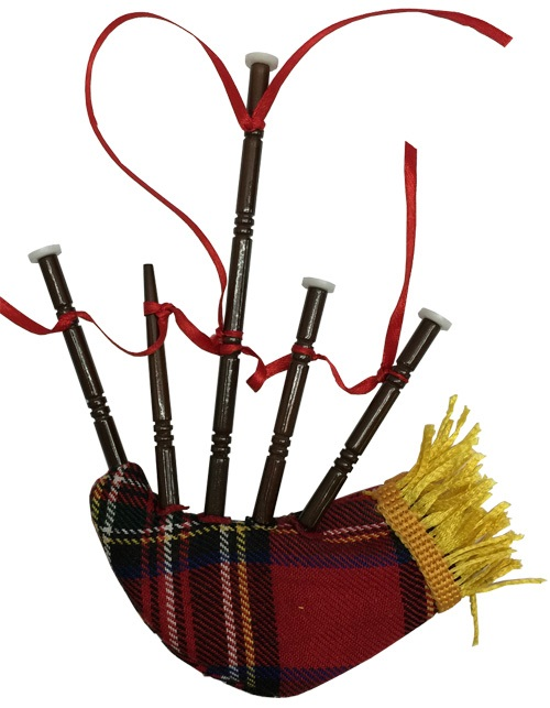 Irish Bag Pipe Ornament