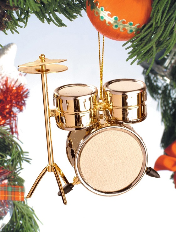 Gold Drum Set Ornament