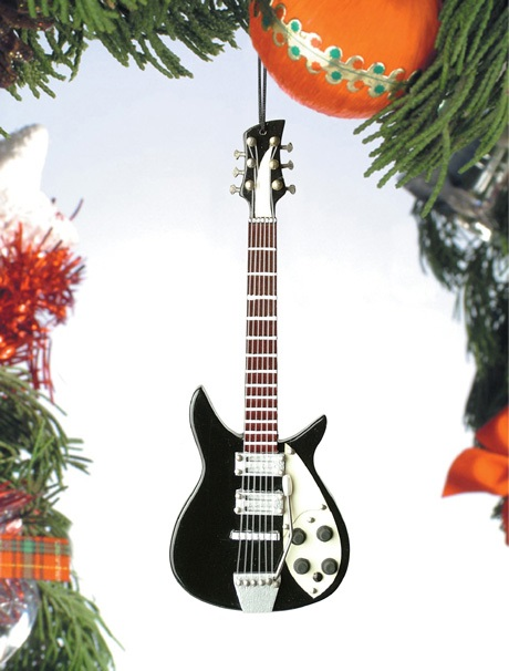 Black and White Electric Guitar II  Ornament
