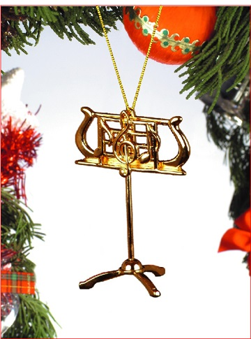 Gold Music Stand Ornament