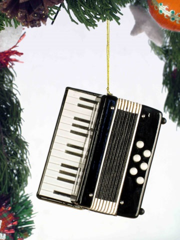 Black Accordion Ornament