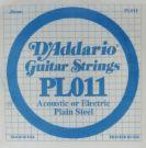 D'Addario: Acoustic or Electric Plain Steel .28mm