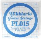 D'Addario Plain Steel .015 Gauge Single String