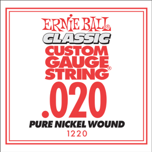 Ernie Ball Guitar Strings: Classic Pure Nickel Six-Pack -20 1220