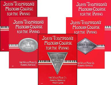 John Thompson's Modern Course for Piano (1st-5th, 5 books in total)